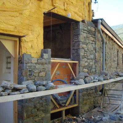 Extres - col·locació de pedra